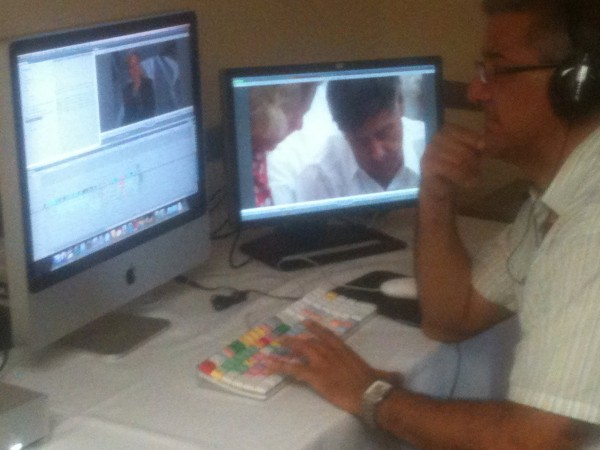 Rick Editing a scene at the Latino Producer's Academy